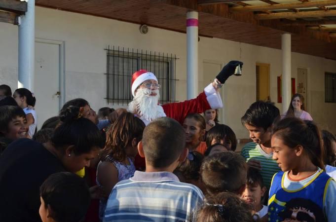Llegó Papá Noel al barrio